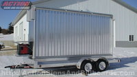 Rotating Mobile Billboard Trailer with aluminum rims and aluminum diamond plate trailer