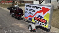 4' x 8' Mobile Sign Trailer
