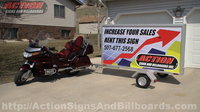 4' x 8' Mobile Sign Trailer and Cycle