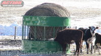 Testimonial of our hay hopper cattle feeder