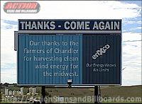 Rotating Tri-paneled Billboards 8' x 16'  Two Signs Back to Back